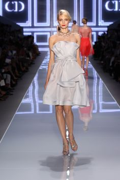 Dior Ready-to-Wear Spring Summer 2012 – Look 29: Pale blue gazar dress. Discover more on www.dior.com