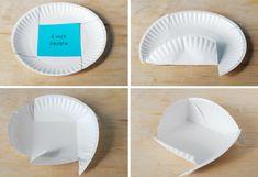 Paper plate basket tutorial