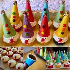 Clown Cone Cupcakes