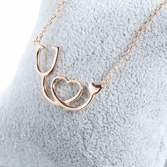 Sterling Silver Medical Stethoscope Heart Pendant Necklace - 925 Sterling Silver – Owl J 14k Gold Necklace, Heart Pendant Necklace, Sterling Silver Necklaces, Silver Jewelry, Fine Jewelry, Silver Ring, Silver Earrings, Silver Bracelets, 925 Silver