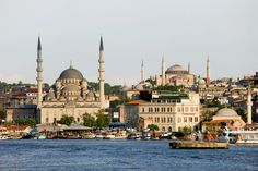 Stock Photo - City of Istanbul, view from the Golden Horn on the left side New Mosque ( Yeni Valide Camii) on the far right Hagia Sophia Pictures Of Turkeys, Visit Turkey, Vacation Days, Hagia Sophia, Turkey Travel, Packing Tips For Travel, Istanbul Turkey, Best Cities, Spain Travel