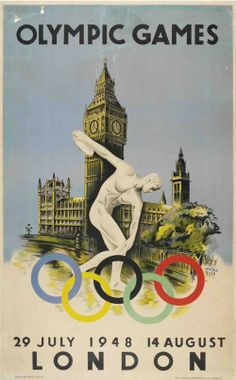 London Summer Olympic Games 1948. London was supposed to hold the games in 1944, but was cancelled due to WW2.