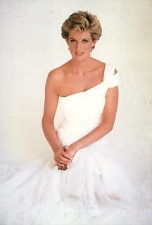 Princess Diana, radiant in white