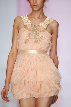 ruffled dress / Jenny Packham