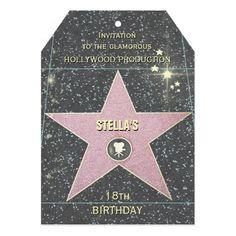 Birthday Invitation Hollywood Style (customizable) More