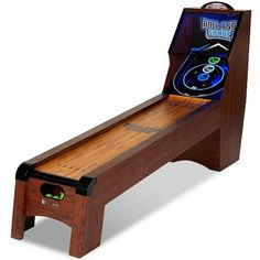 Ready AIM and Throw! Have Loeads of Fun 9 Ft. Roll and Score Table, Arcade Game, Includes 4 Skee-Ball, Electronic Board Scorer Great Sound Effects LED Light - Perfect for Family, Game Nights Man Cave Garage, Garage Game Rooms, Game Room Basement, Man Cave Basement, Garage Bar, Man Cave Room, Man Cave Diy, Basement Sports Bar, Geek Man Cave