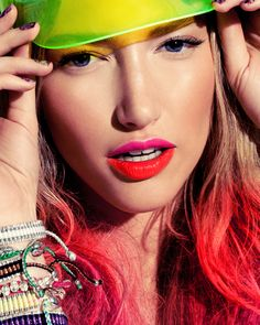 Fashion, sport, woman, make-up, colors