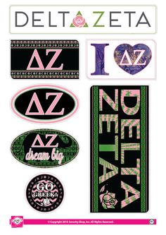 Officially Licensed Delta Zeta License Plate Frame Matte Pink with Hearts