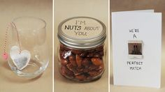 """""""I'm nuts about you"""" DIY Valentine's Day gift. Check out the video tutorial by TheSorryGirls to learn how to make these yummy honey roasted almonds! Valentines Day Decorations, Valentine Day Crafts, Be My Valentine, Diy Holiday Gifts, Diy Gifts, Honey Roasted Almonds, Do It Yourself Crafts, Cheap Gifts, Valentine's Day Diy"""