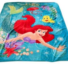 Disney Ariel Little Mermaid Blanket $55 & Wow I would love a Disney Ariel Bed Tent with Push Light / http ...