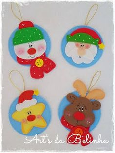 Haz lindos adornos navideños con foami y cds reciclados ~ Mimundomanual Kids Crafts, Christmas Crafts For Kids To Make, Christmas Activities, Holiday Crafts, Diy And Crafts, Felt Christmas Ornaments, Christmas Clipart, Christmas Decorations, Christmas Makes