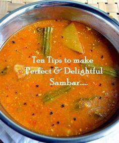 Tip #18: Ten Tips to make Perfect and Delightful Sambhar   Bhojana Recipes