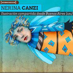 Ilustración. Ángel urbano de NERINA CANZI. Ilustración compartida desde Buenos Aires (ARGENTINA).  Leer más: http://www.colectivobicicleta.com/2013/07/Ilustracion-de-NERINA-CANZI.html#ixzz2YqdzqNpd