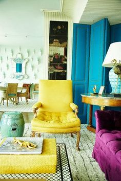 Stunning jewel tones, antique modern mix
