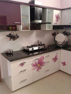 Kitchen Cupboard Designs, Kitchen Room Design, Modern Kitchen Design, Kitchen Layout, Home Decor Kitchen, Interior Design Kitchen, Moduler Kitchen, Room Door Design, Home Room Design