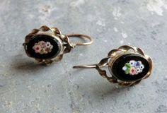 Antique micro mosaic earrings.