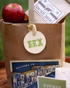 Try to cater your welcome bags to your chosen destination - this will give them more personality!