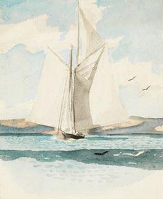 Edward Hopper - Sailboat (1900)