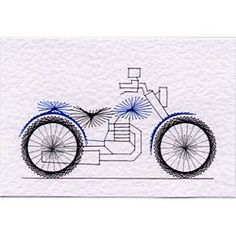 Stitching Cards Motorbike-I love stitchincard.  I have bought several designs from them.*Trisha