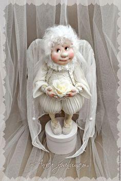 Купить Ангел -хранитель - белый, в интерьер, винтаж, шебби-шик, шебби, ангел, ангел-хранитель