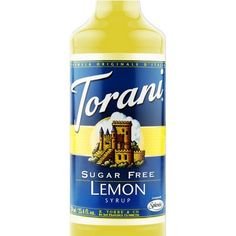 Torani Sugar Free Lemon Syrup 750 mL