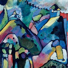 Kandinsky, The path to abstraction, Tate Modern June Wassily Kandinsky, Art Moderne, Art Abstrait, Russian Art, Art History, Modern Art, Abstract Art, Art Gallery, Illustrations