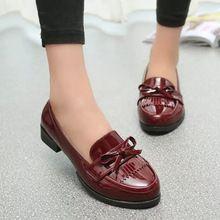 2015 recién llegado de primavera y otoño del estilo de inglaterra de la borla women shoes moda mujeres zapatos para mujeres sapato feminino XZ074(China (Mainland))