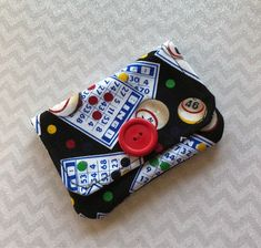 A personal favorite from my Etsy shop https://www.etsy.com/listing/586187541/credit-card-holder-bingo-fabric-gift