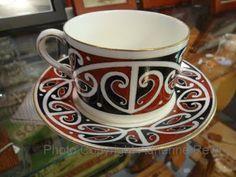 Royal Doulton Maori Art - New Zealand Maori Patterns, Teapots And Cups, Teacups, New Zealand Houses, Maori Tattoo Designs, Nz Art, Maori Art, Kiwiana, Coffee Cafe