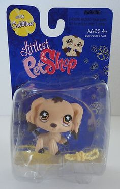 Littlest PET Shop 515 Brown Cocker Spaniel DOG W Chocolate Dipped Ears LPS | eBay