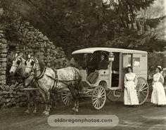 Horse-drawn Ambulance and Crew - Pacific Photo Co.Portland 1910