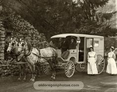 Horse-drawn Ambulance and Crew - Pacific Photo Co.