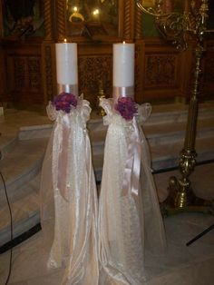 Ράνια | Λαμπάδες Γάμου, Είδη Γάμου, Θεσσαλονίκη Ceremony Decorations, Pillar Candles, Centerpieces, Weddings, Art, Candles, Decorations, Wedding, Wedding Ideas