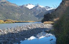 Řeka Rees, túra Rees-Dart Track, Nový Zéland