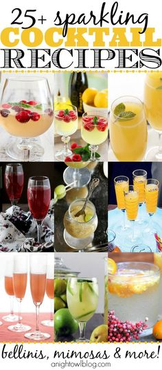 Perfect for New Year's Eve, ladies brunch or any special occasion! Sparkling cocktail recipes are the best! #cocktailrecipes