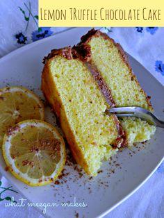 My Lemon Truffle Chocolate Cake — MeeganMakes