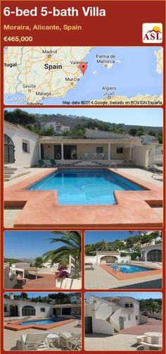 6-bed 5-bath Villa in Moraira, Alicante, Spain ►€465,000 #PropertyForSaleInSpain