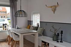Kitchen Dining, Dining Room, Dining Table, Ikea Bank, Open Trap, Couch, Breakfast Nook, New Homes, Lounge