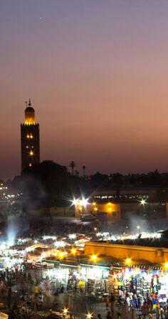 Sunset in Marrakech,