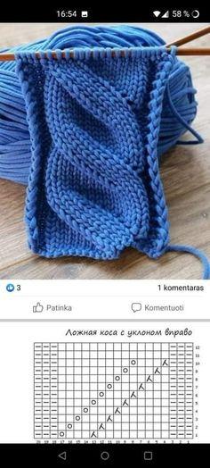 Beanie Knitting Patterns Free, Knitting Stiches, Knitting Charts, Lace Knitting, Knitting Designs, Knit Patterns, Crochet Stitches, Crochet Waffle Stitch, Crochet Yarn