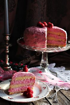 MÁLNATORTA Cake Cookies, Food And Drink, Strawberries, Sweets, Cakes, Drinks, Drinking, Strawberry Fruit, Beverages