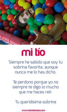 TE QUIERO TÍO 15 de mayo: Día Internacional de la Familia www.dondeesta.com
