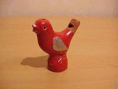 Mine broke! :( Red ceramic bird whistle - from the Renaissance Festival