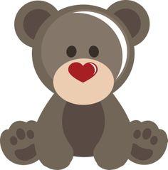 Valentine's day SVG cutting file. (http://www.ppbndesigns.com/boy-valentine-bear/)