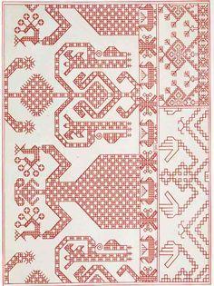 Russian Embroidery, Folk Embroidery, Vintage Embroidery, Embroidery Stitches, Embroidery Designs, Cat Cross Stitches, Needlepoint Stitches, Cross Stitching, Needlework