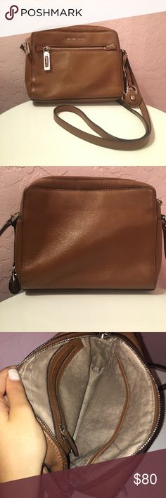 Michael Kors Brown Crossbody 100% authentic! Metal is only scratched a little, but really good condition and great quality leather. Michael Kors Bags Crossbody Bags