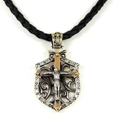 This would be a beautiful crucifix for a 'biker' rosary.