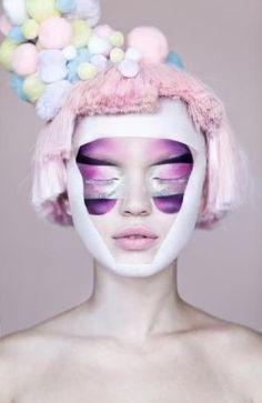 pink-purple-avant-garde-beauty-makeup by proteamundi