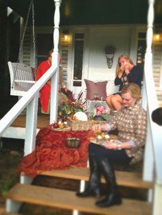 Porch picnic.