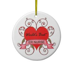 Gifts for nurses - World's Best ER Nurse Christmas Ornaments